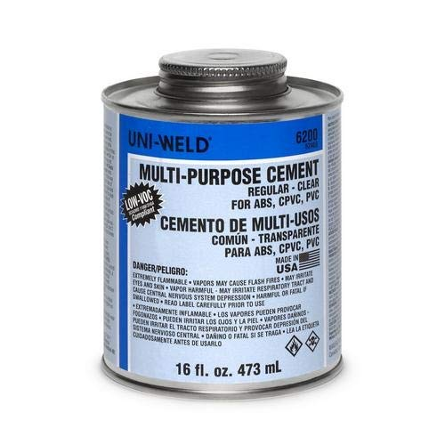 Oatey 6246S, 16 oz. Multi Purpose Regular Clear Cement, Pack of 24 pcs