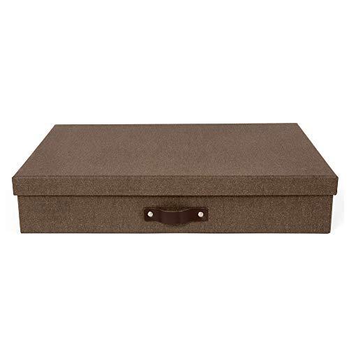 Brown Laminate - Bigso Sverker Laminate Art Storage Box, Dark Brown
