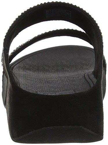 Neri Aperta Bagliore Delle Stroboscopiche Sandali Di nero Fitflop Diapositive Donne Punta wZqRS