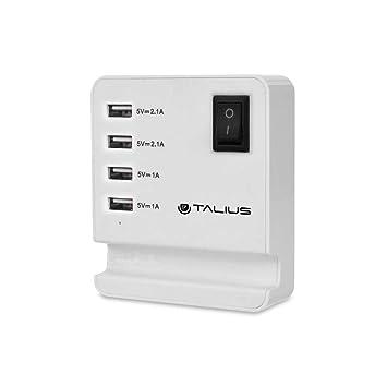 TALIUS TAL-CHA-4003- Cargador USB de Pared - USB x4: Amazon ...