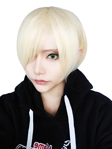 ROLECOS Mens Cosplay Wigs Short Straight Party Wig Blonde -