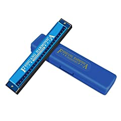 Specifications:  Tyle:24 Holes  Key: C  Color: blue Dimensions: (17.5cm x 2.5cm x 2.0cm) (L x W x H)  weight: 308g  The following are a few tips for taking care of your harmonica:  - Do not drink sticky, heavy drinks before playing.  - Rinse ...