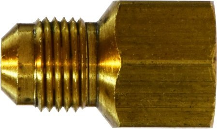 Midland 10-461 Brass SAE 45 Degree Flare Reducer 0.94 Hex Size 1//4 Male Flare x 1//2 Female Flare Thread