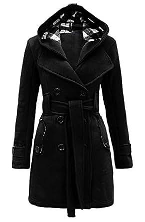 Womens Long Sleeve Belted Button Fleece Coat Size S M L XL 12 14 16 18 20 22