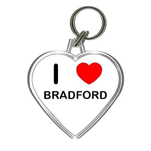 I Love Bradford - Heart Shaped Key Ring