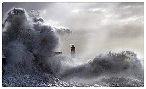 (Old-lighthouse-in-storm Postcard Post card )