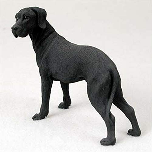Ky & Co YesKela Great Dane Figurine Hand Painted Collectible Statue Black Uncropped ()