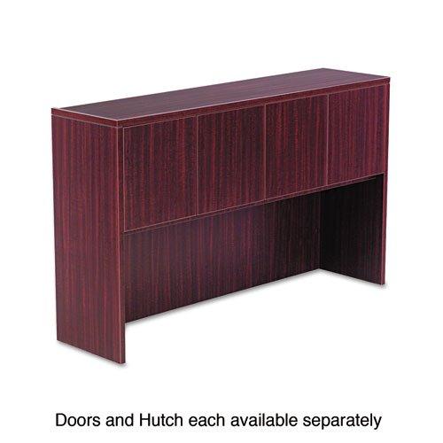Mahogany Set Hutch (Alera Valencia Series Hutch Doors, Laminate, 14w x 3/4d x 15h, Mahogany, 4/Set)