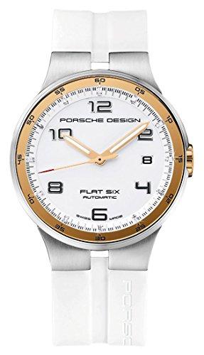 Porsche Design Flat Six Automatic Stainless Steel Mens White Watch Calendar 6351.47.64.1256