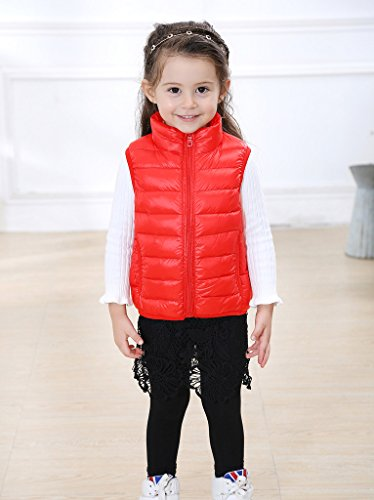 Stand Red Bubble Kids Boys Down Waistcoat Fille Collar Manteau Blousons Ake 4ftTwvqR