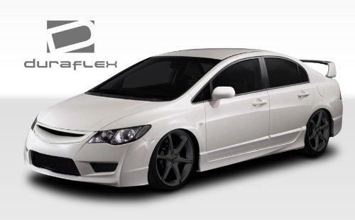 Duraflex Replacement for 2006-2011 Honda Civic 4DR JDM Type R Front End Conversion Kit - 5 - Duraflex 4dr Type