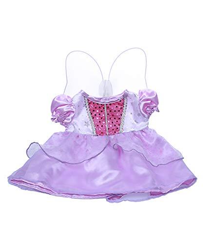 Purple Cinderella Dress w/Wings Teddy Bear Clothes Fits