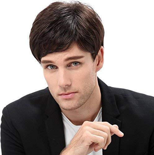 Leysin Full Head Hair Wig For Men And Boys For Casual Party And