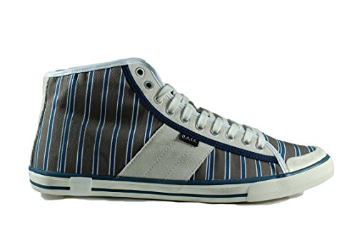 D.A.T.E. sneaker uomo Tender high stripe brown