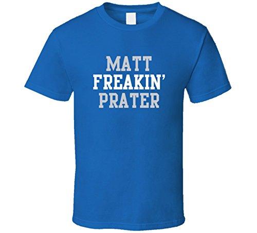 Matt Freakin' Prater Detroit Football Player Cool Fan T Shirt L Royal Blue