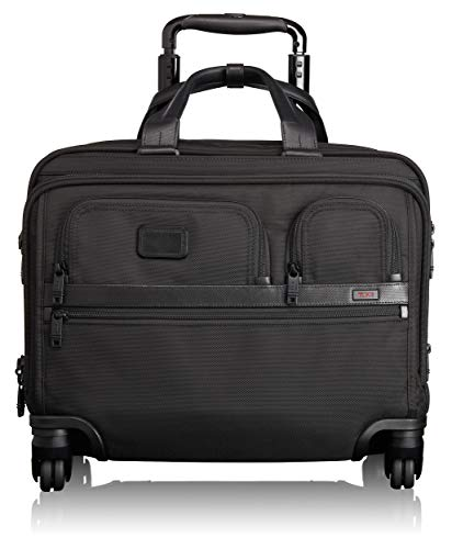 Computer 2 Pocket Brief (TUMI - Alpha 2 Carry-on Wheeled Laptop Deluxe Brief Briefcase - 15 Inch Computer Brief for Men and Women - Black)