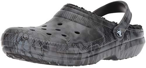 Crocs Clssc Kryptek Typhon Lined Clog, Black, 13 US Men / 15 US Women