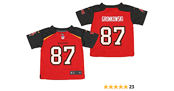 Nike NFL Tampa Bay Buccaneers Infants, Toddlers, Little Boys Rob Gronkowski Red Game Jersey