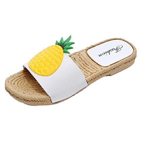 Strawberry Yellow Pineapple Sandals Home Fruit Women's Sikye Casual Flat Shoes Slip Non Straw Slipper Summer Style HZ1Oawq