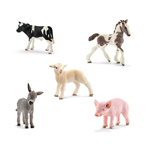 Schleich Animals Farm Babies Set - Donkey Foal, Lamb, Tinker