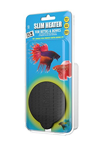 Round, Up to 5 Gal, Slim Heater for Bettas, 7.5 Watt