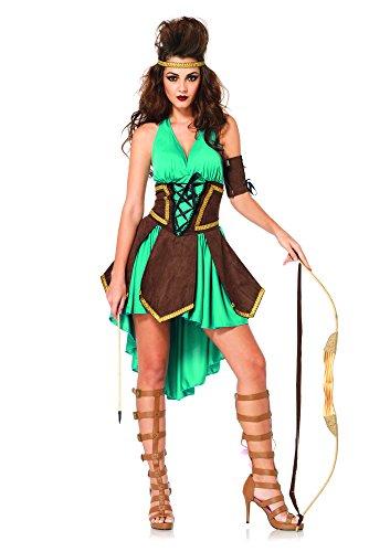 Leg Avenue Women's 3 Piece Celtic Warrior Costume, Turquoise, -