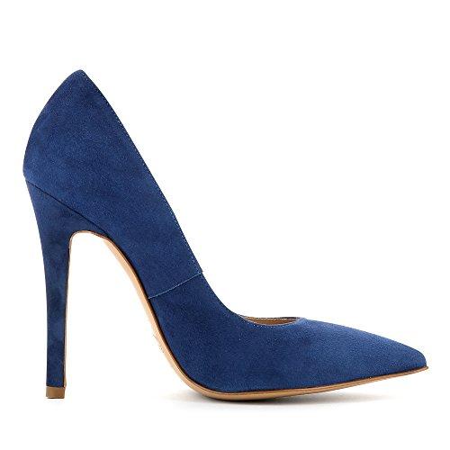 Tacco Evita Scarpe Lisa Blau Donna Shoes Col IIqOx4UHw