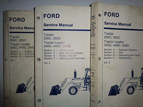 Ford 250C 260C 345D 445D 545D Tractor Repair Service Manual 40025050 3/93