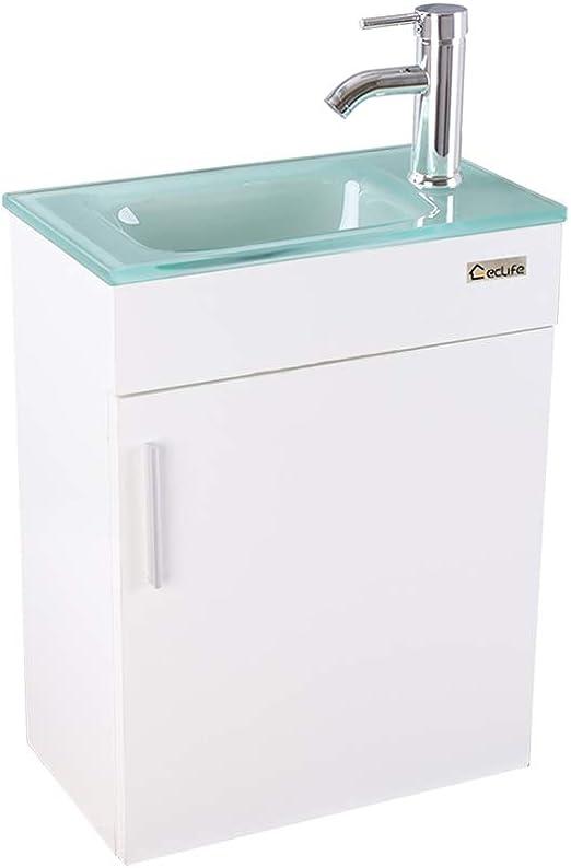 "Amazon.com: eclife Bathroom Vanity W/Sink Combo, 18.4"" for Small"