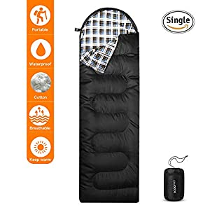 Elecfly Sleeping Bag With Compression Sack Envelope Portable And Lightweight For 4 Season Camping Hiking Traveling Backpacking And Outdoor Activities 86L X 30W