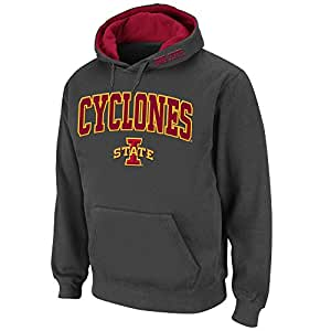 Mens NCAA Iowa State Cyclones Pull-over Hoodie (Charcoal) - 3XL