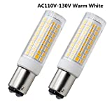 BA15D Bayonet Base LED Light Bulb 120 Volts, 8.5W - 75W Halogen Bulbs Equivalent Replaces JD Type T3/T4 Clear Bulb, Warm White 3000K for Pendants Ceiling Fans Sewing Machine Light (2-Pack)