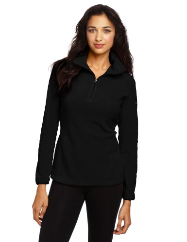 Soft Shell Half Zip Pullover - Columbia Women's Glacial Fleece III 1/2 Zip Jacket, Black, Medium