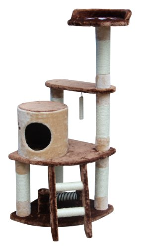 Kitty Mansions Sicily Cat Tree, Brown/Beige