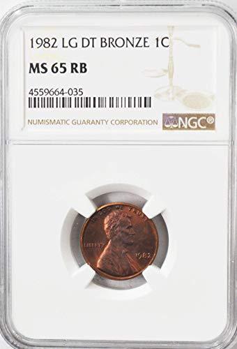 (1982 P Lincoln Memorial Cent AZK14 Large Date Bronze Denver AZK14 1c MS65 NGC RB)