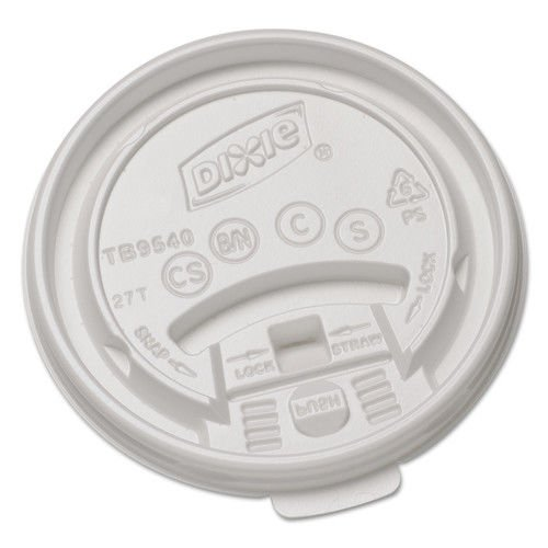 DXETB9540 - Dixie Plastic Lids for Hot Drink Cups