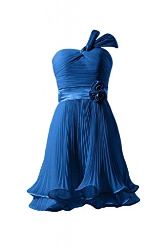 Vintage Blue Dress BM334RE Short Dress Bridesmaid 37 Morden DaisyFormals royal Party Chiffon HaqFnTx71