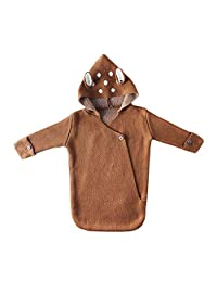 Autumn and Winter Sweater Knitting Baby Fawn Ears Hooded Three-Dimensional Sleeping Bag Pajamas