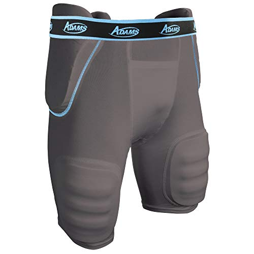 Adams High Rise Varsity All-in-One Football Girdle with Integraded Pads