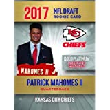 PATRICK MAHOMES II 2017 2018 NFL GOLD PLATINUM Rookie Card RC Only 2,000 MADE Kansas City Chiefs In a one touch magnetic…