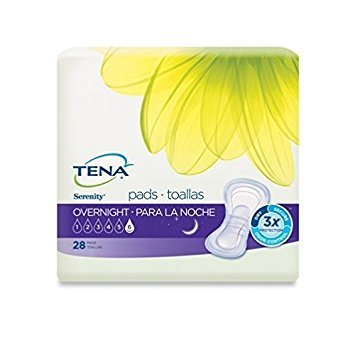 TENA Serenity Overnight Ultimate Pads, 28 Count - Pack of 5