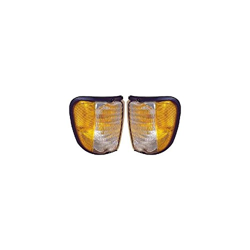 Evan-Fischer EVA20572054956 Corner Light Set Of 2 For Econoline Van 92-03 Right and Left Side Lens and Housing Park/Side Marker Lamp To 12-2-02 Park Light Housing