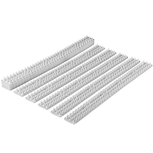 Abco Tech Bird Spikes - Set of 10 x 48.8 cm Anti-Climbing Security for Your Fence, Walls & Railings to Prevent Human Intruders, Animals or Birds - for a Safe and Secured Perimeter - No Tools Needed