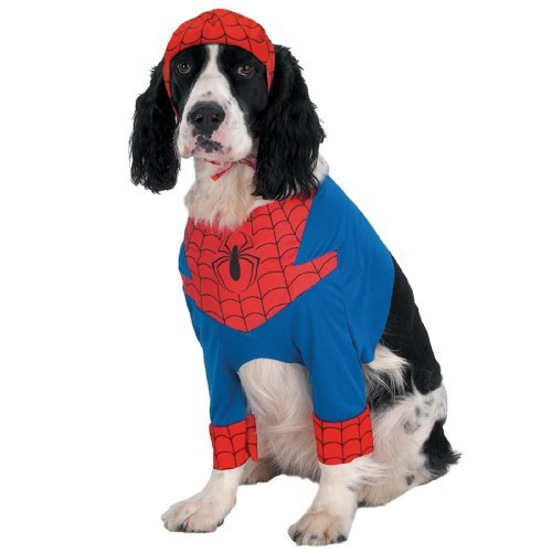 [Disguise Inc Spiderman Pet Costume Multicoloured Large] (Pet Spiderman Costumes)