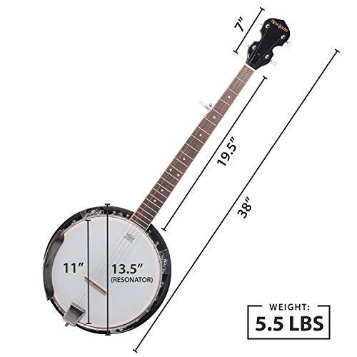 5 String Resonator Banjo with 24 Brackets | Closed Back and Geared 5th Tuner | Resoluute - Image 7