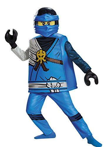[Disguise Jay Deluxe Ninjago LEGO Costume, Medium/7-8] (Lego Ninja Costume)