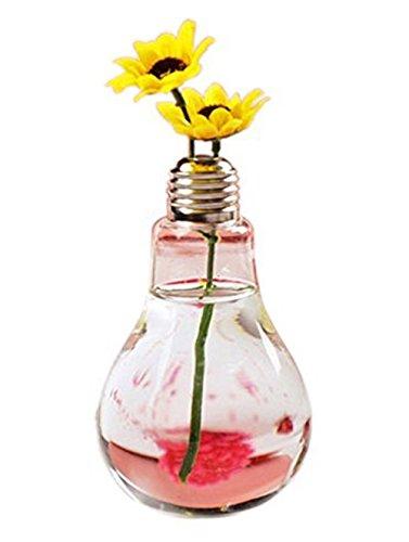 Westeng Glass Vase Light Bulb Shape Clear Vase Flower Plant Hydroponic Container Pot Garden Decoration Vase Hard Wearing…
