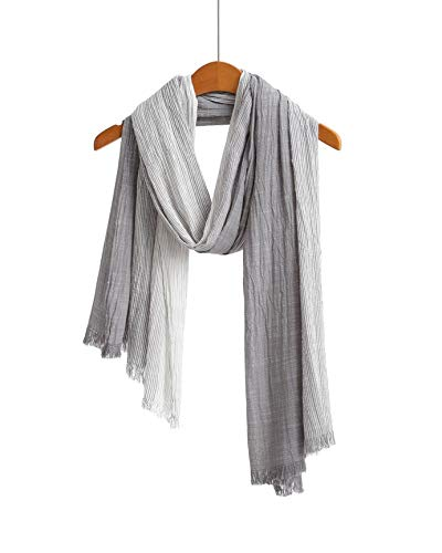 - Cotton Scarf Shawl Wrap Soft Lightweight Scarves And Wraps For Men And Women (Grey 2)