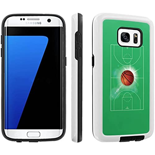 [Galaxy S7] [5.1 Screen] Armor Case [Skinguardz] [White/Black] Shock Absorbent Hybrid - [BasketBall] for Samsung Galaxy S7 / GS7 Sales