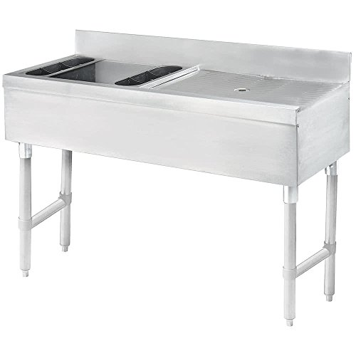 Advance Tabco CRW-4L Stainless Steel Ice Bin and Drainboard Combo Unit - 48